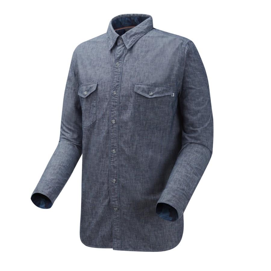 [A1UPB] 남성 긴팔 리버 카모 셔츠- 블루