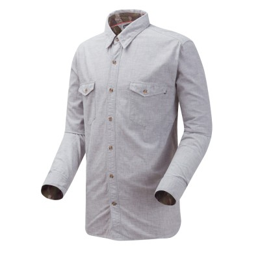 [A1UPB] 남성 긴팔 리버 카모 셔츠- 그레이