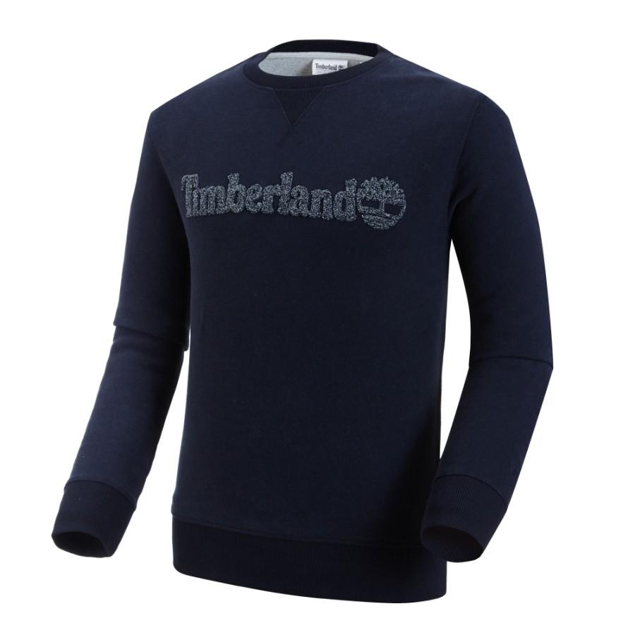 [A1V6C] 남성 팀버랜드 로고 맨투맨- 블루