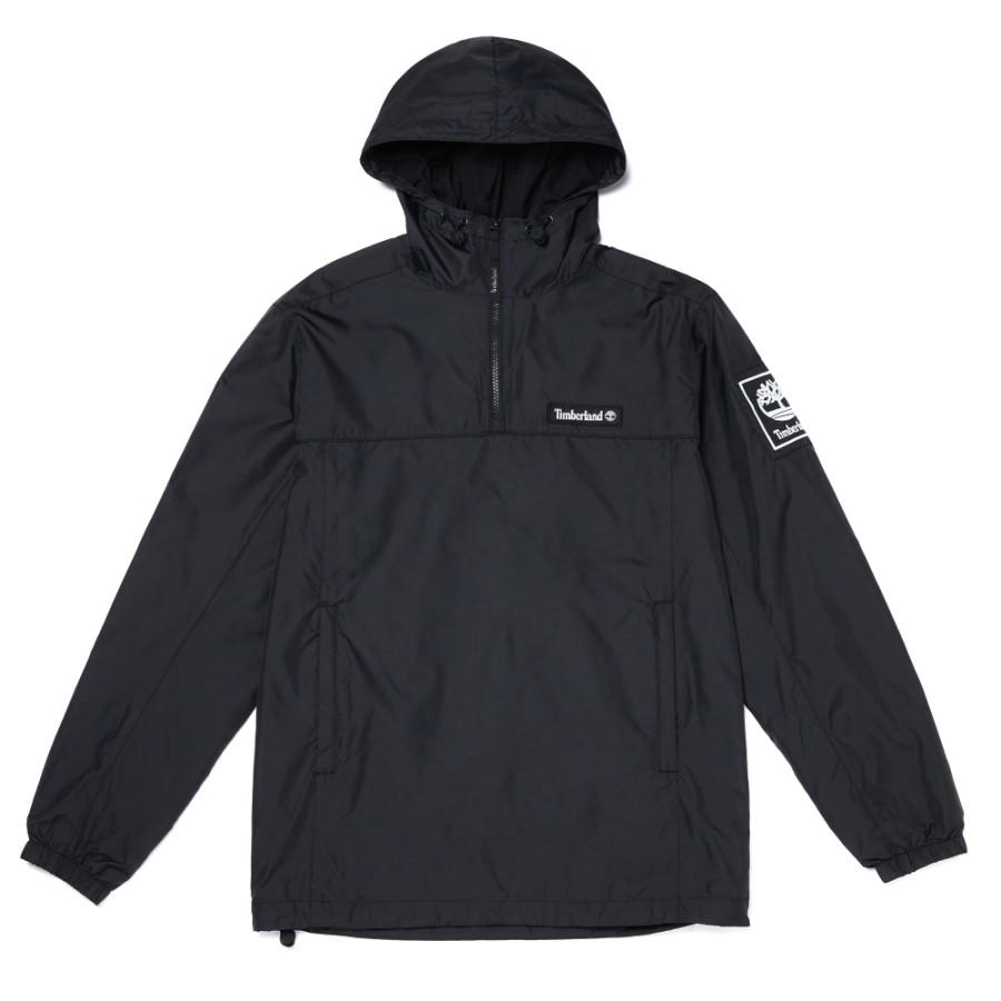 [A1WX3] 남성 풀집업 아노락 재킷 - 블랙