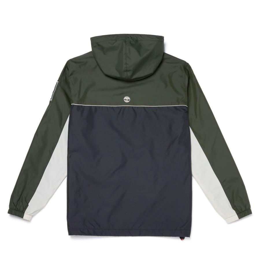 [A1WXE] 남성 풀집업 아노락 재킷 - 블랙