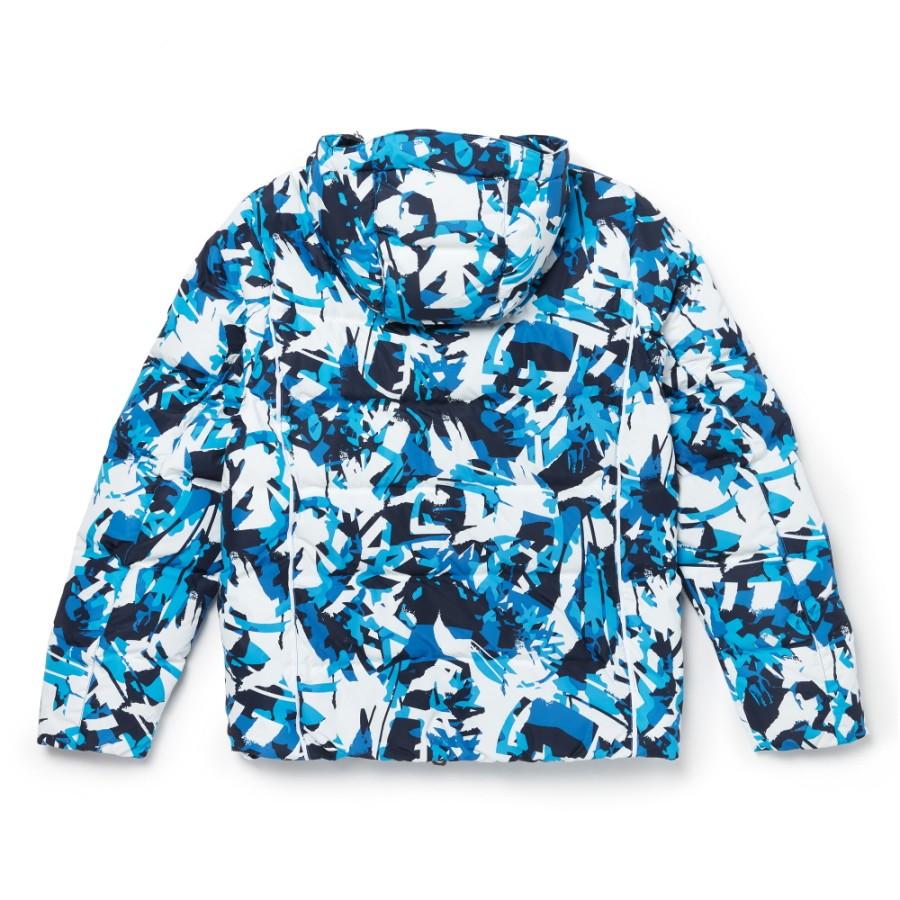 [A1Z3D] 남성 구스 마운틴 자켓 - 화이트&블루 패턴