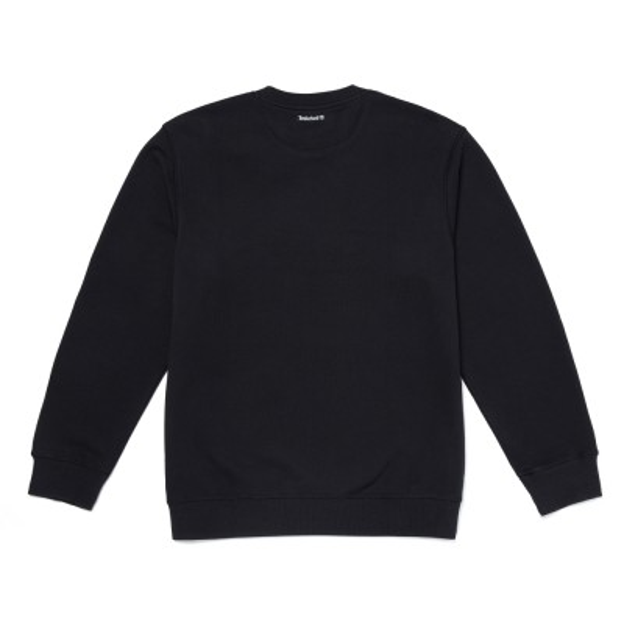 [A1ZD4] 남성 풀자수로고 크루넥 - 블랙