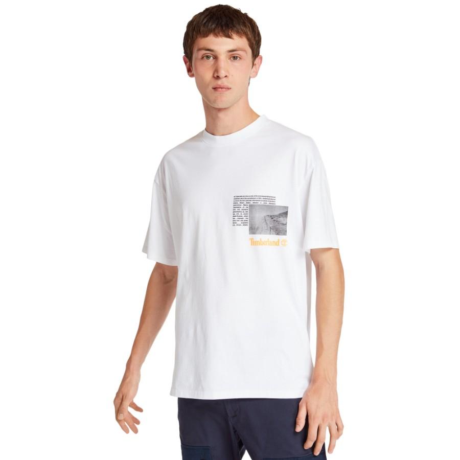 [A2112] 남여공용 NNH 그래픽 반팔티 - 화이트