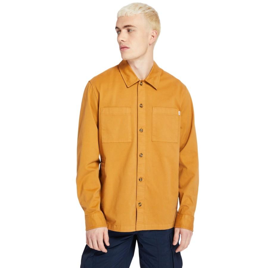 [Hi-Vis]남성 Garment Dye 셔츠 - 위트브라운(A2518)