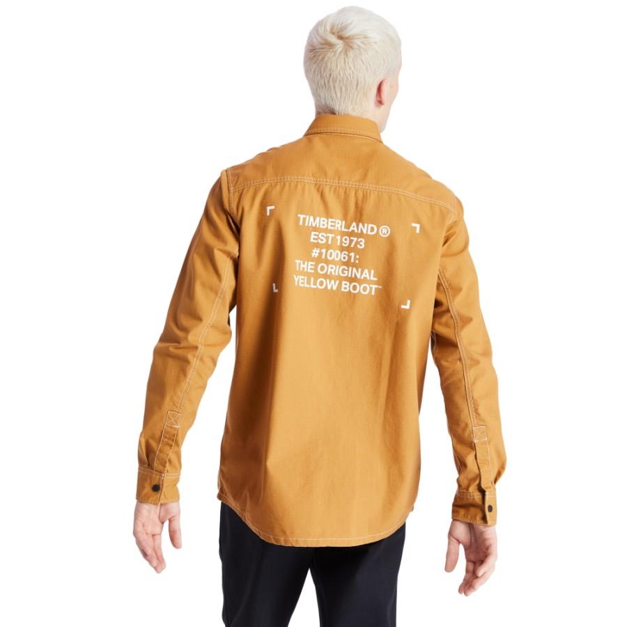 헤리티지 오버사이즈 셔츠 - 위트브라운(A2AC4)