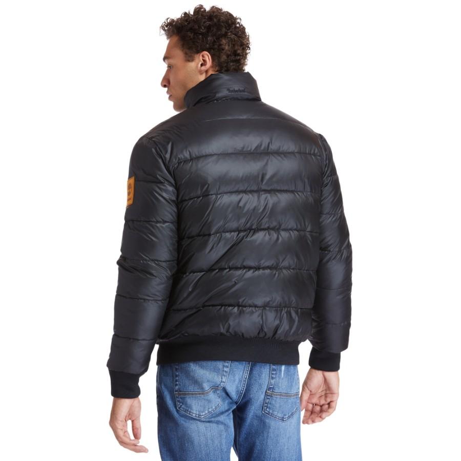 남성 리버시블 플리스 다운 패딩 재킷 - 블랙(A2BBP)