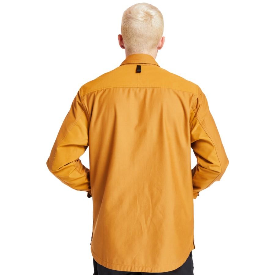 [A2BD7] 남성 리보틀 오버사이즈 셔츠 - 위트브라운