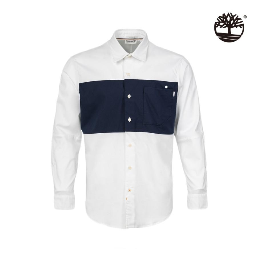 남성 Mix&Match 셔츠 - 화이트(A2ENQ)