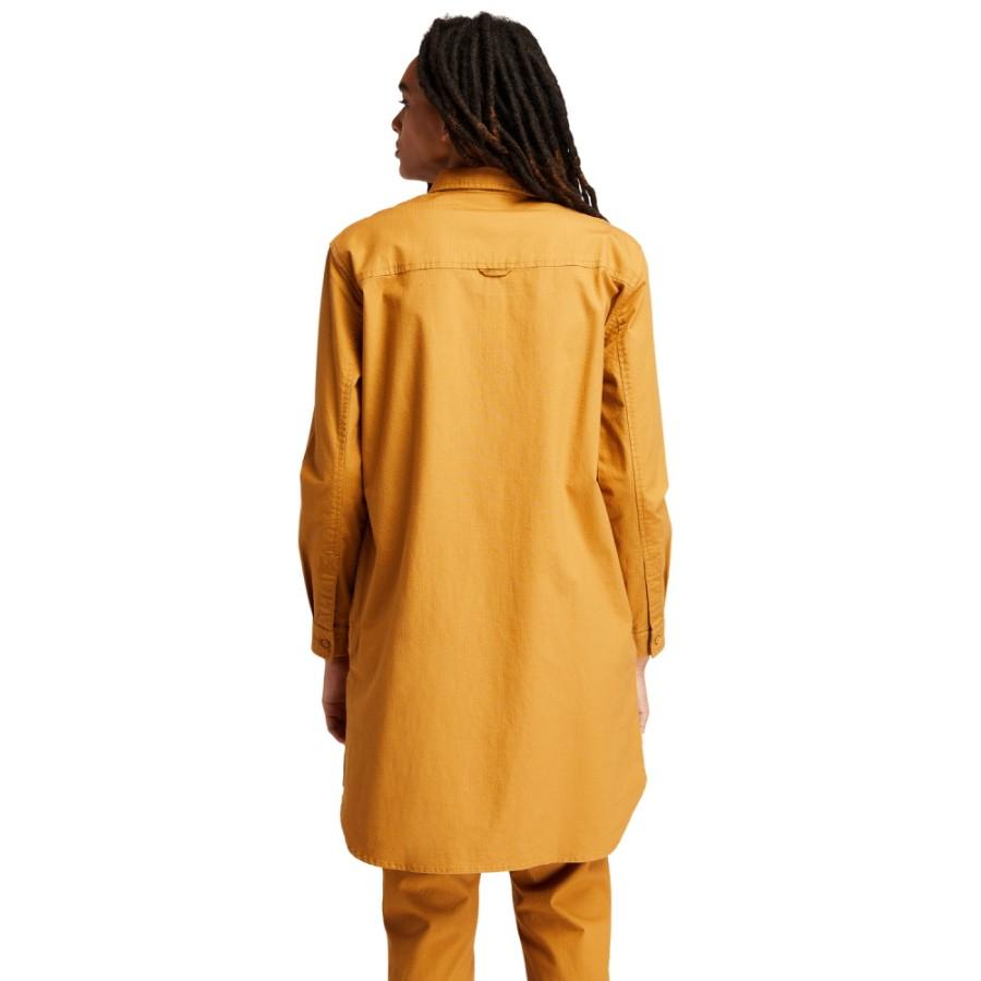 여성 워크웨어 Overshirt Dress - 위트브라운(A2GEQ)