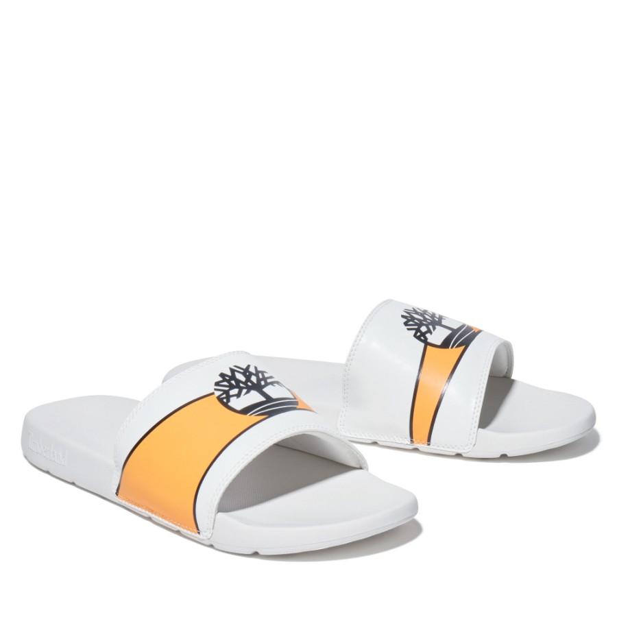 남여공용 프라야 슬라이드 - 화이트&오렌지(A2HNC)