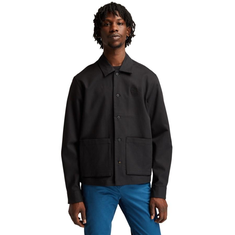 남성 Re-Comfort 오버셔츠 - 블랙(A42T2)
